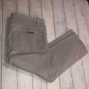 Michael Kors Grey Crop Jeans